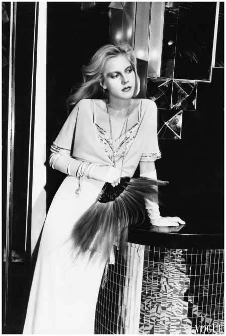 1974 - Model Sylvie Vartan photographed by Tony Kent for French Vogue
