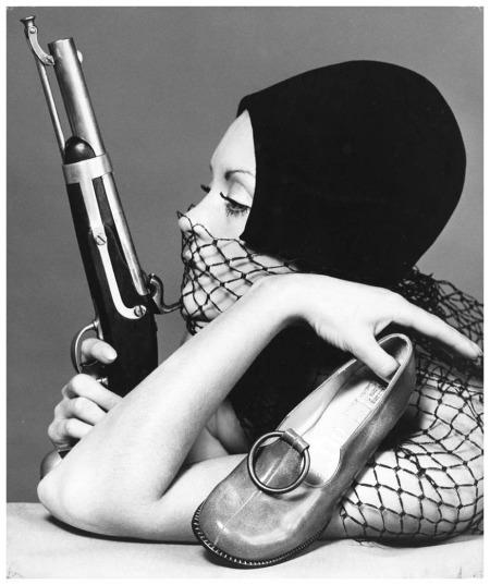 Bruno Benini - Sandi Mitchell - with gun Melbourne - Australia 1970