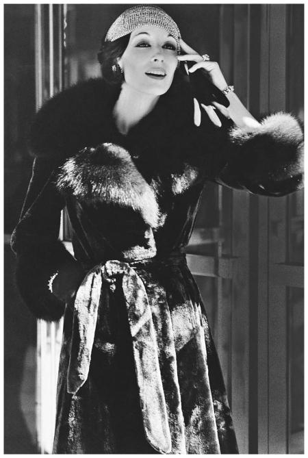 Fashion Model Wearing Fur Coat Bob Stone 1972