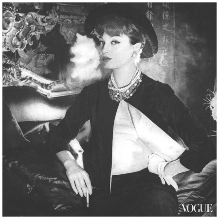 Marie-Hélène ArnaudIn Chanel's apartment Photo Sante Forlano, Vogue, September 1,1958