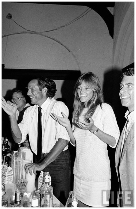 Model Cheryl Tiegs and Photographer Peter Beard July 1982