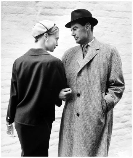 Nena von Schlebrugge and Peter Chettle, Aquascutum Advertisment, 1958