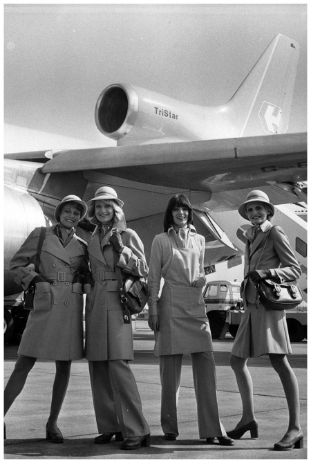 Designer Uniforms Mary Quant court line aviation Frank Barratt