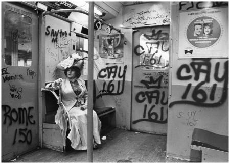 Editta Sherman On The Train To The Brooklyn Botanic Garden New-York Historical Society, Gift of Bill Cunningham all 1968-1976