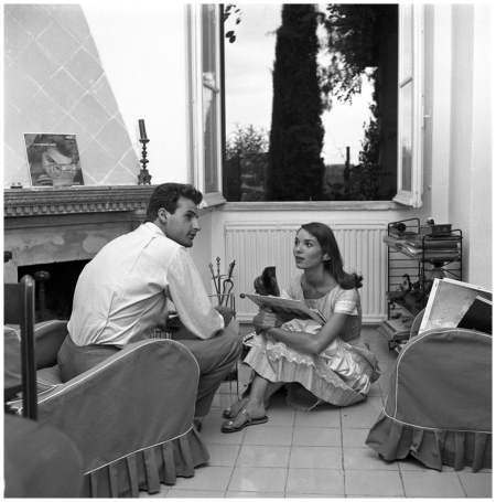 Elsa Martinelli in A Home e Elsa Martinelli e Franco Mancinelli Scotti, 1957 ca. Photo Angelo Frontoni