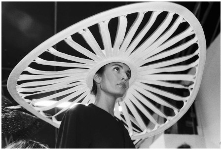 Hat in a 1977 Issey Miyake show. Photograph by Ferdinando Scianna:Magnum