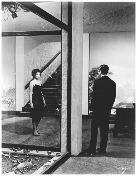 Monica Vitti with Marcello Mastroianni in La Notte directed by Michelangelo Antonioni 1961