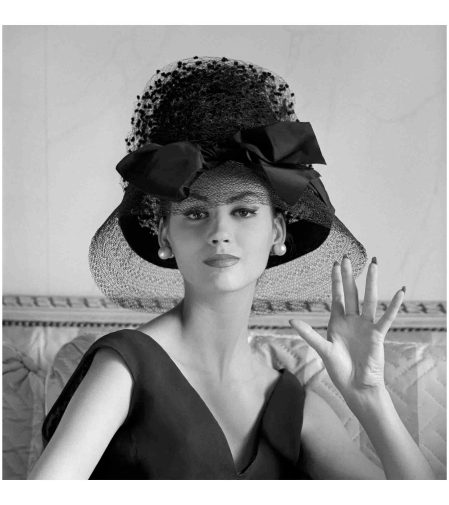 Katherine Pastrie modelling a Bernard Devaux Hat