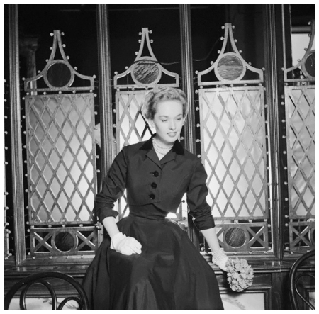 Actress Tippi Hedren modeling Dress in Plaza Hotel 1954 Photo Genevieve Naylor