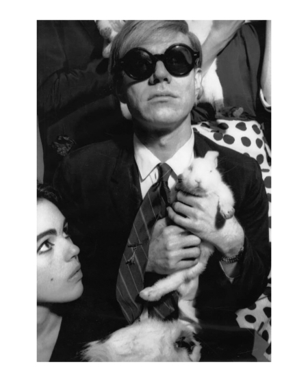 Jean-Jacques Bugat (France). Portrait d'Andy Warhol chez Castel, vers Edie sediwick on left 1965