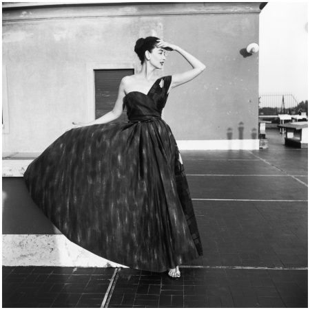 Model Wearing a Simonetta Visconti Dress