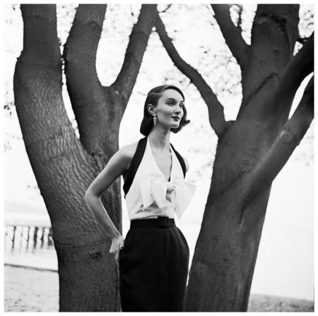 Model Evelyn Tripp in a Halter-top Dress by Katja of Sweden 1952 Photo Genevieve Naylor