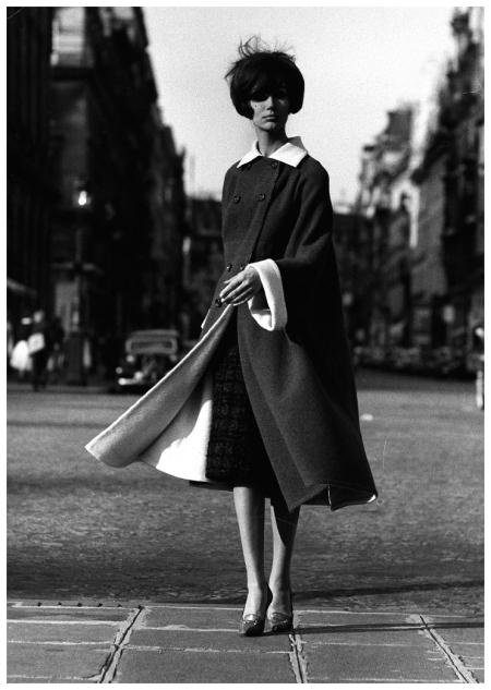 Simone D'Allaincourt Mode d'hiver à Paris - 1959 - Non identifié. Publié dans Life Photo Pierre Boulat