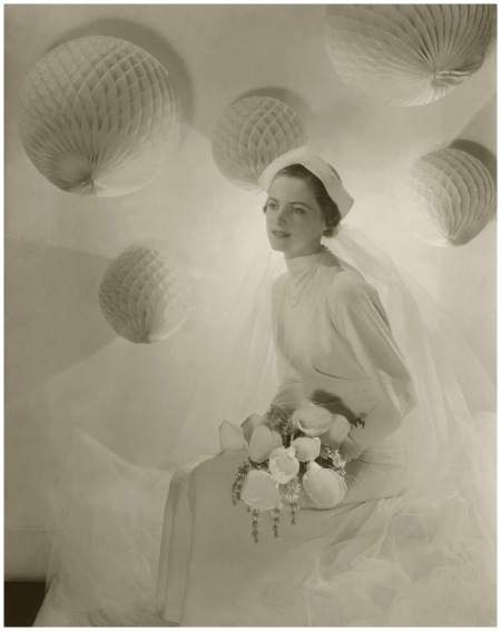 Model in Crepe Wedding Gown with Calla Lilies, 1934 Photo Cecil Beaton