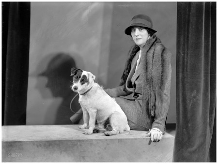 1933. %22Mrs. Walter A. Foote, portrait with dog.%22 Harris & Ewing