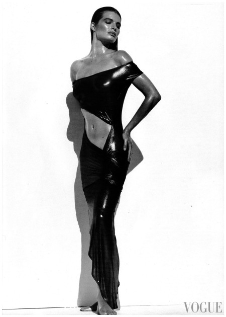 Cordula Reyer Vogue UK June 1989 photo Herb Ritts