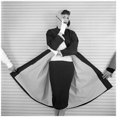 Evelyn Orcel, Voss Mode 1955 Photo Hans Dukkers