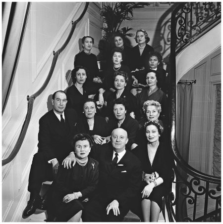 France, Paris in 1949, Christian Dior and his staff Photo Fred Brommet