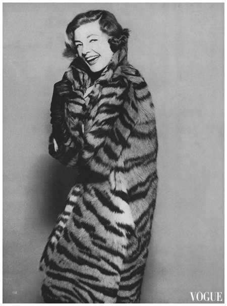 Lauren Bacall Photo Richard Rutledge, Vogue, November 15, 1959