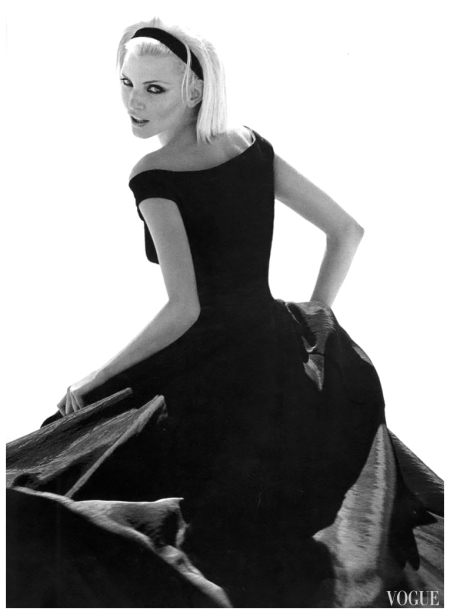 Nadja Auermann US Vogue September 1995 Photo Herb Ritts b