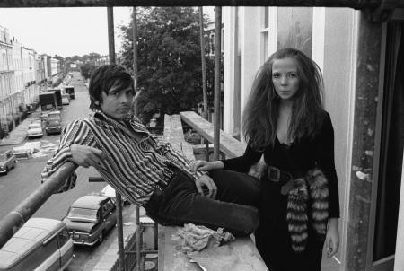 Penelope Tree e David Bailey sono ufficialmente una coppia è il 1967. Foto Steve Lewis (Getty Images).