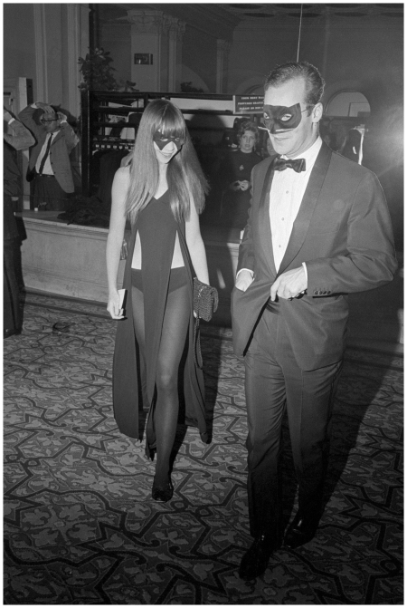 Penelope Tree enters Truman Capote's spectacular Black and White Ball at New York's Plaza Hotel, 1966, attended by film stars, socialites, artists, authors, writers and many powerful political figures - Corbis Archive