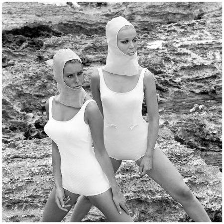 Swimsuits fashion, 1966, Els Kaptijn and Brigitte Juslin Photo Hans Dukkers
