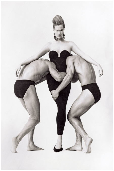 "Tatjana Patitz ""Callas Thenics"" Photo Herb Ritts UK Vogue July 1988"