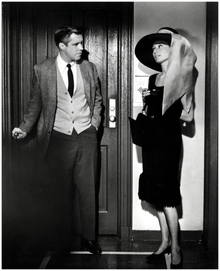 Audrey Hepburn & George Peppard (Breakfast at Tiffany's) 1961 b