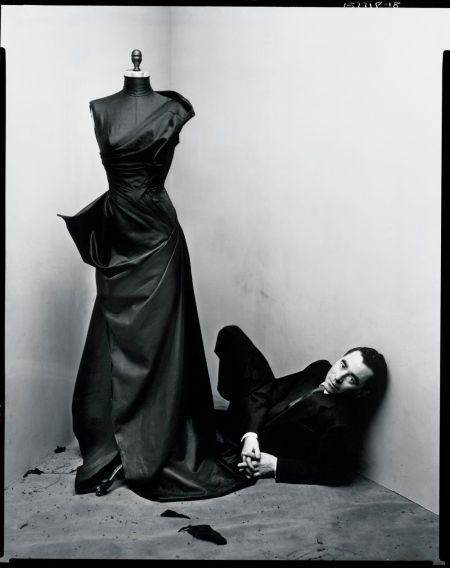 "Charles James in 1948. Dior called him ""the greatest talent of my generation,"" but he was often too early to get credit for his breakthrough Photo Irving Penn"