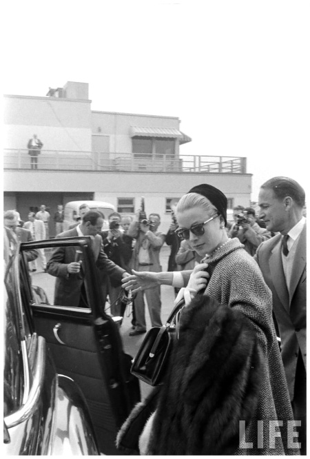 Grace Kelly's Departure From Hollywood. March 1956. Photo Allan Grant