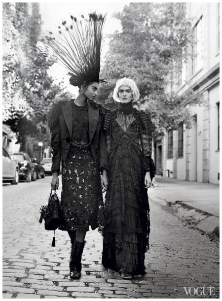 Imaan Hammam & Sam Rollinson US Vogue - January 2014 Photo Craig McDean 2014 a1
