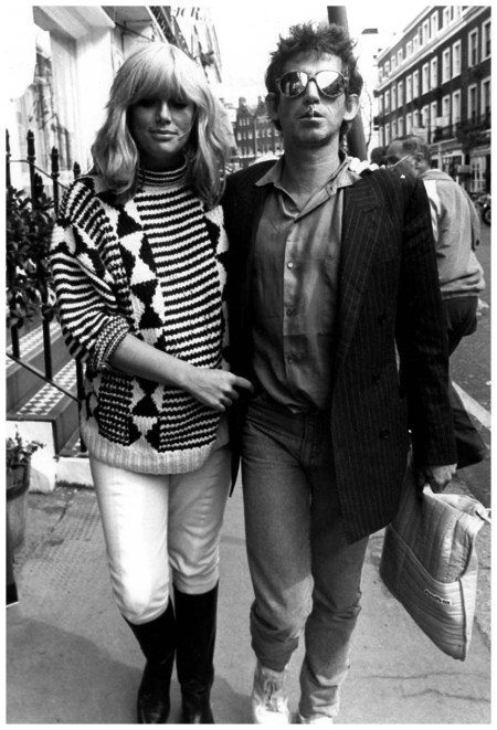 Patti Hansen and Keith Richards. London 1986 Photo Rex USA