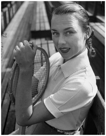 Portrait of tennis player Gussie Moran. (Photo by Allan Grant:The LIFE Picture Collection:Getty Images)