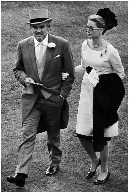 Prince Rainer III and Princess Grace - Royal Ascot 1966