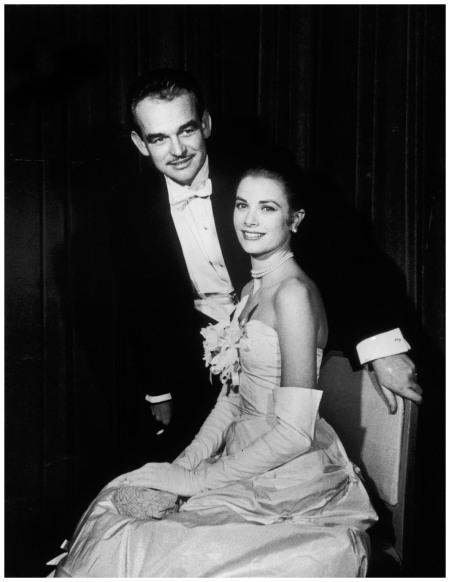 Prince Rainier of Monaco and Grace Kelly in 1956 NYC Photo Elliot Erwin