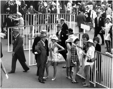 Race-goers in the enclosure on the first day of the Royal Ascot race meeting, 1968