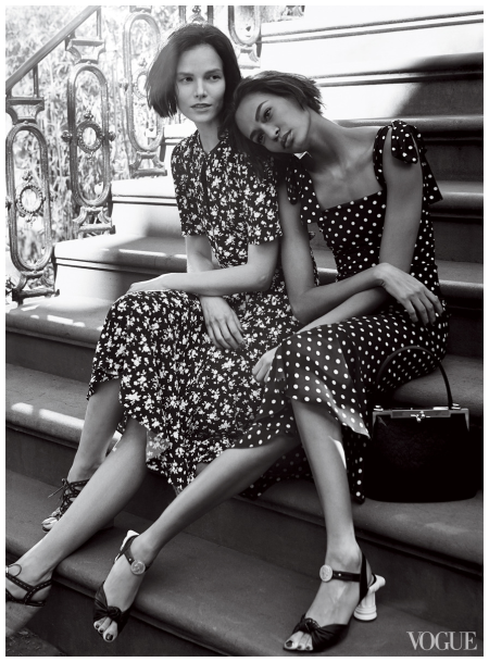 Suvi Koponen & Joan Smalls Vogue US  Photo Craig McDean 2014 b
