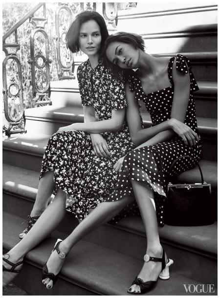 Suvi Koponen & Joan Smalls Vogue US  Photo Craig McDean 2014 b