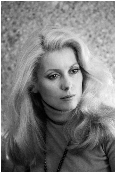 Catherine Deneuve during a visit to Spain 1974 Corbis