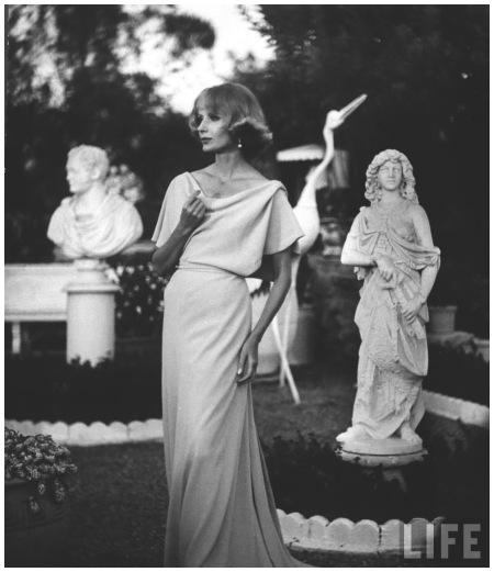 Dinner dress made by California designer Hollywood 1952 Photo Gordon Parks