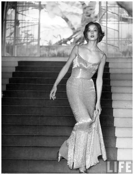 Evening dress designed by a California designer c Hollywood 1952 Photo Gordon Parks
