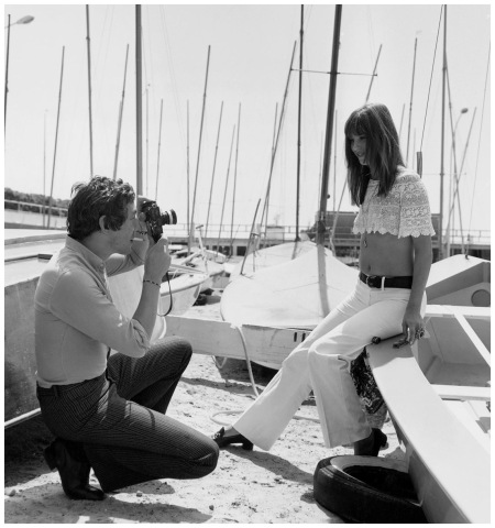 Serge Gainsbourg and Jane Birkin at cannes film festival on may 19, 1969
