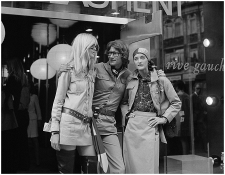 Betty Catroux, Yves Saint Laurent e Loulou de la Falaise London 1969 Variant