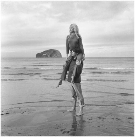 Laurent Terzieff and Brigitte Bardot at North Berwick, Scotland, in a scene from the film 'Two Weeks in September Photo Jim Gray