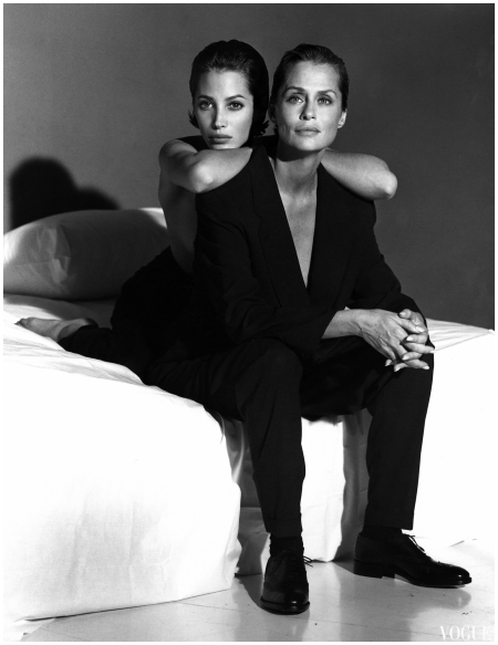 Photo Steven Meisel Vogue Italia Aprile 1991 Christy Turlinghton Lauren Hutton