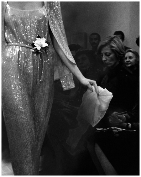 A sequined look from Halston Bill Cunningham, Vogue, March 01, 1974