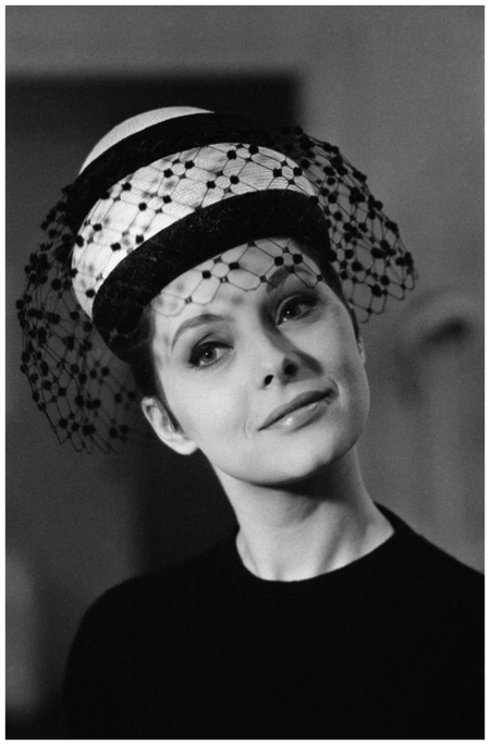 Actress Virna Lisi At Milliner Jean Barthet Shop