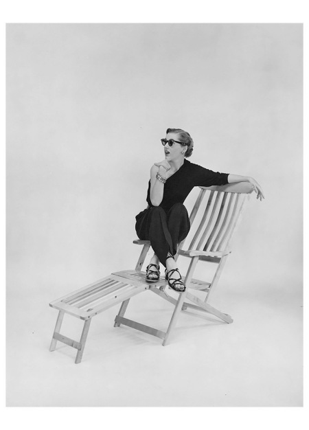 Advertising Image of a Woman on Folding Beach Chair 1938 Photo Kenneth Heilbron