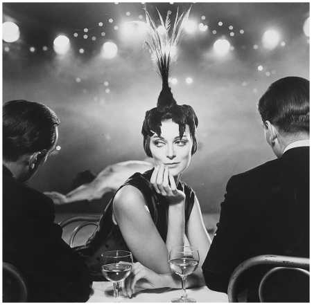 Carmen Dell'Orefice, Folies Bergeres, Harper's Bazaar, 1957 Photo Richard Avedon